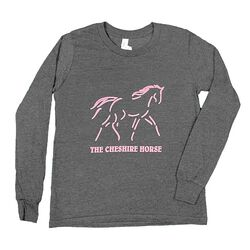 Cheshire Horse Kids' Long Sleeved Tee with Pink Logo