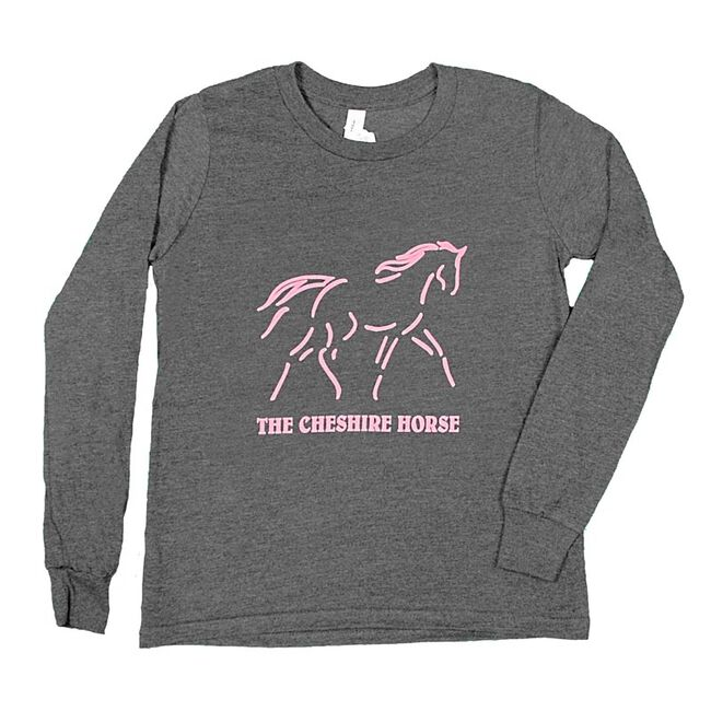 Cheshire Horse Kids' Long Sleeved Tee with Pink Logo image number null