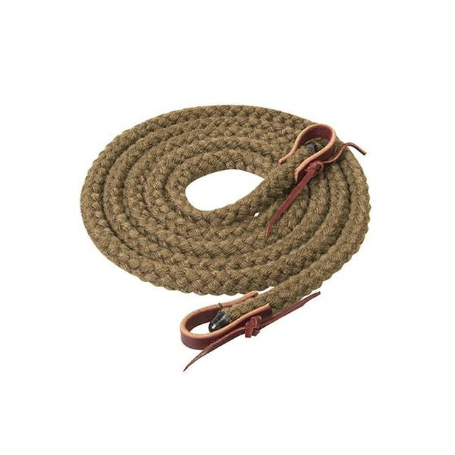 Weaver Leather Silvertip Hollow Braid Trail Reins  - Brown image number null