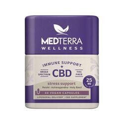 MedTerra CBD Wellness Immune Support + CBD Stress Support Capsules