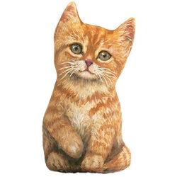 Fiddler's Elbow Orange Kitten Doorstop