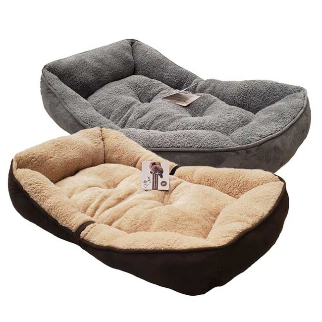 All for Paws Lambwool Bolster Dog Bed image number null