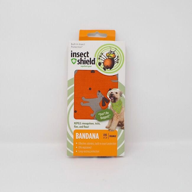 Insect Shield Dogs & Bones Pet Bandana Orange image number null