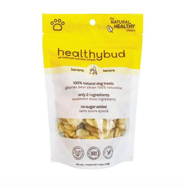 HealthyBud Banana Crisps Dog Treat 4.6 oz  image number null