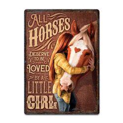 Rivers Edge Horse Little Girl Sign