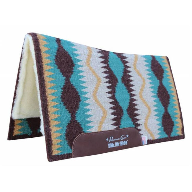"""Professional's Choice Comfort Fit SMX Air Ride """"Serpentine"""" Pad - Turquoise image number null"""