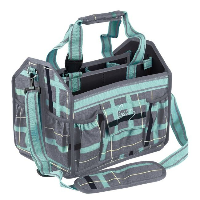 Pessoa Alpine 1200D Tack Tote - Clay & Teal Plaid image number null