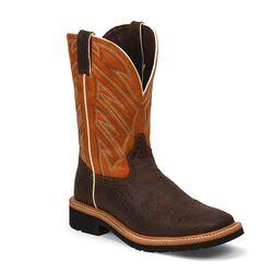 Justin Men's Square Toe Work Boots