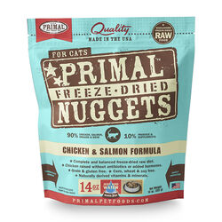 Primal Freeze Dried Chicken and Salmon Nuggets Cat Food