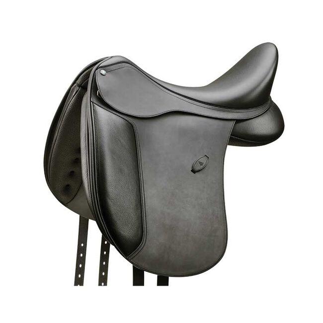 "Arena High Wither Dressage Saddle - Black - 17.5"" image number null"