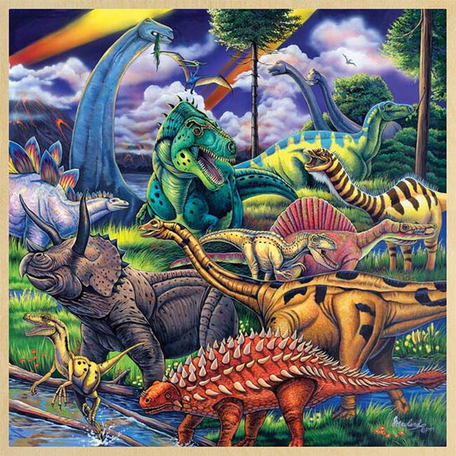 """""""Dinosaur Friends"""" 48 Piece Wood Puzzle image number null"""