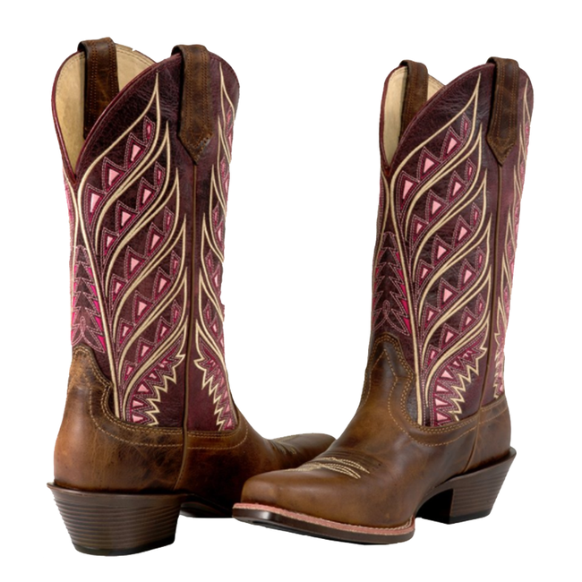 Noble Outfitters Square Toe Sonora Western Boot-6-Tan Cranberry image number null