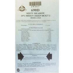 Kalmbach Misty Meadow Medicated 20% Sheep Creep DEX27.2 50 lb