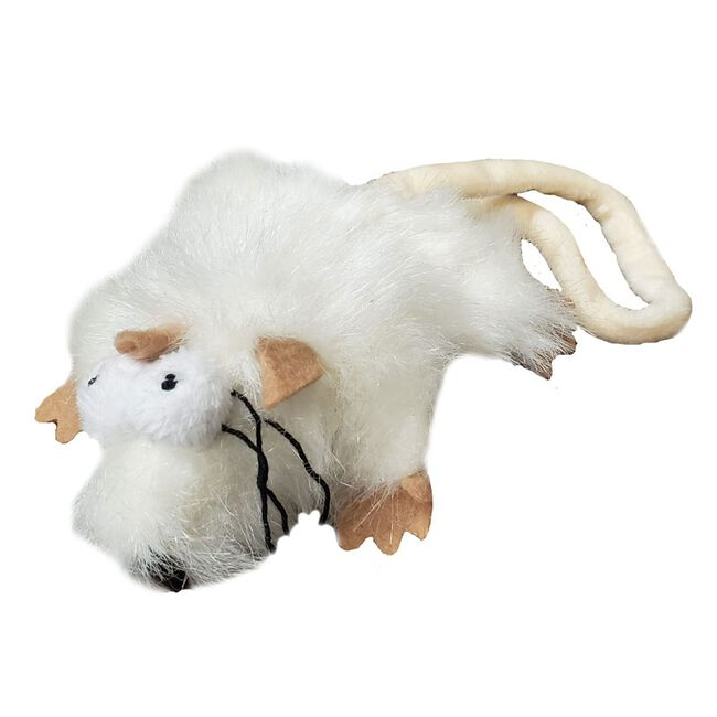 Steel Dog Combo Critter Catnip Toy - White image number null