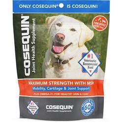 Cosequin Glucosamine & Omega-3 Soft Chew Dog Supplements, 60 ct
