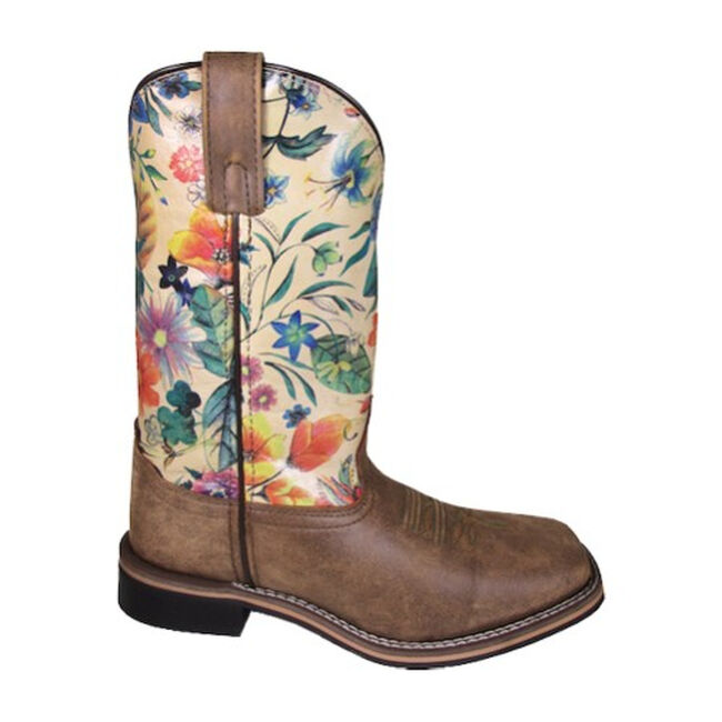 Smoky Mountain Blossom Women's Western Leather Boot image number null