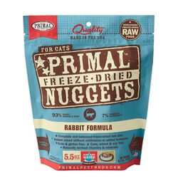Primal Pet Foods Freeze Dried Rabbit Cat Food 5.5oz