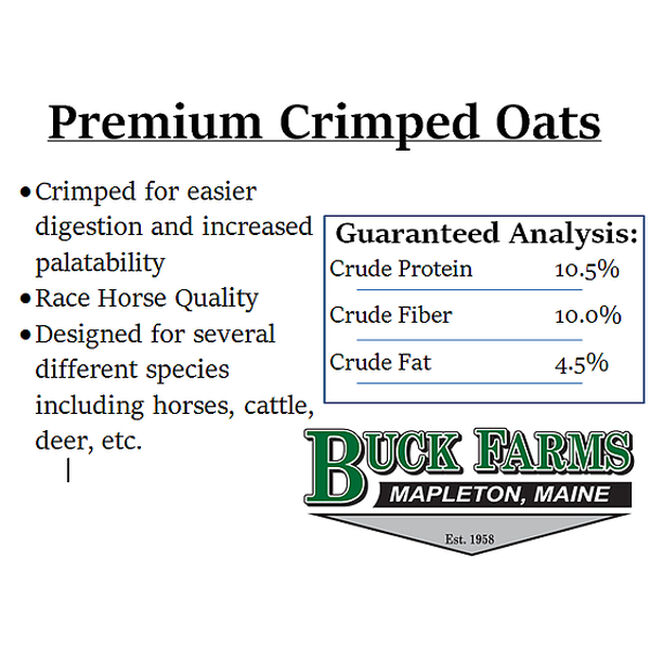 Buck Farms Crimped Oats Feed image number null