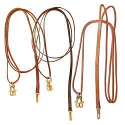 Tory Leather One Piece Draw Reins with Sliding Snaps