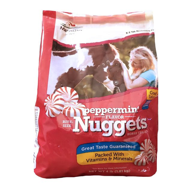 Manna Pro Peppermint Flavor Bite Sized Nuggets Horse Treats - 4lb Bag image number null