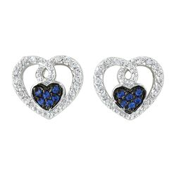Montana Silversmiths Curlicued Cerulean Heart Earrings