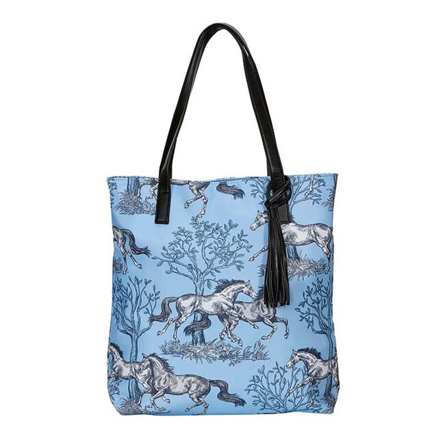 AWST Lila Blue Toile Tote Bag  image number null