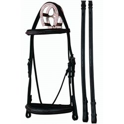 Bobby's Silver Spur Square Raised Padded Bridle