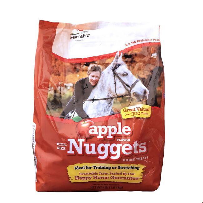 Manna Pro Apple Flavor Bite Sized Nuggets Horse Treats - 4lb Bag image number null