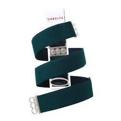 Unbelts No-Bulk Belt-Teal/Silver