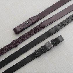 KL Select Black Oak Pebble Grip Reins w/ Stops
