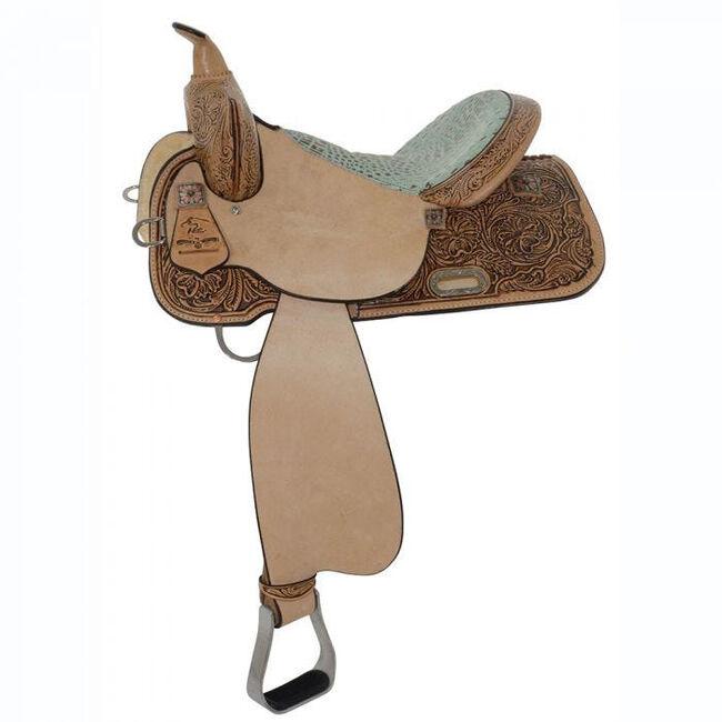 "High Horse Runaway Barrel Saddle, Antique, Mint Faux Gator, 15"", Wide image number null"