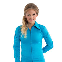 RHC Equestrian Ladies Zip Up Fitted Show Shirt