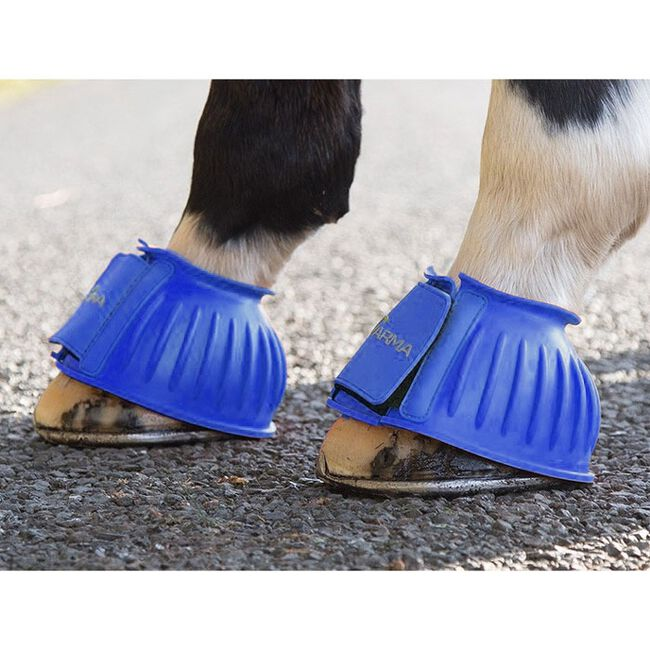 Shires ARMA Touch Close Bell Boots - Royal Blue image number null