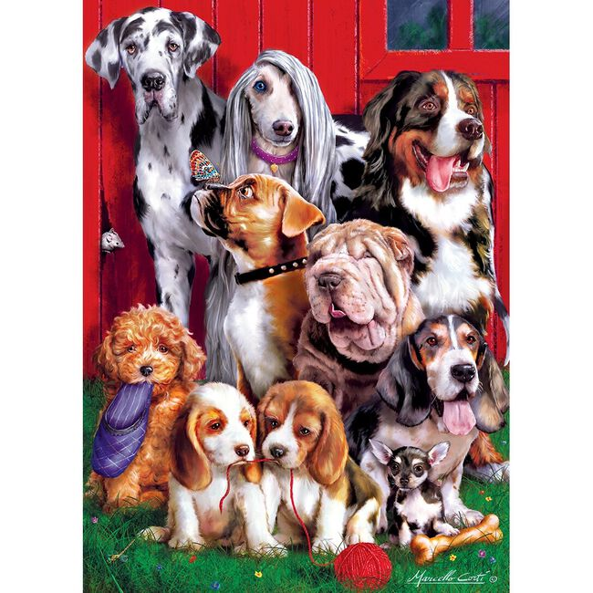 """Leanin' Tree Furry Friends Puzzle - """"Sitting Pretty"""" image number null"""