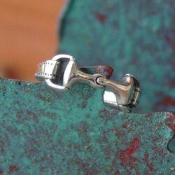 Baron Silver Snaffle Bit Horse Ring-6