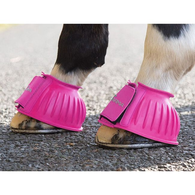 Shires ARMA Touch Close Bell Boots - Pink image number null