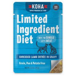 Koha Limited Ingredient Diet Shredded Lamb Entrée in Gravy for Cats