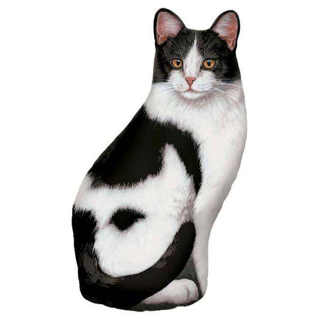 Fiddler's Elbow Black and White Tabby Cat Doorstop image number null
