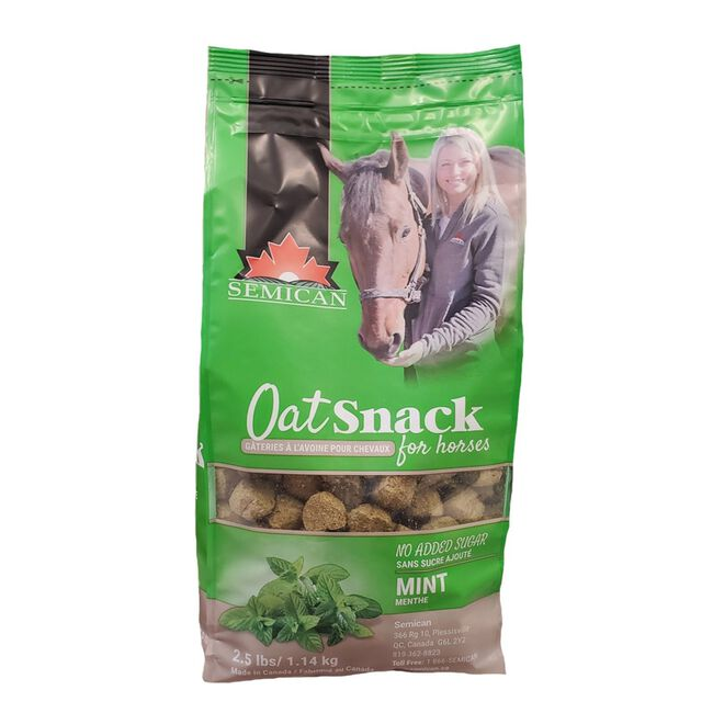 Semican Mint Flavored OatSnacks for Horses - 2.5lb image number null