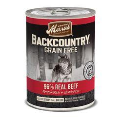Merrick Backcountry Grain Free 96% Beef Canned Dog Food 12.7 oz