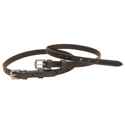 Tory Leather Creased Spur Straps with Double Keepers