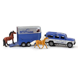 Breyer Land Rover and Tag A Long Horse Trailer Set