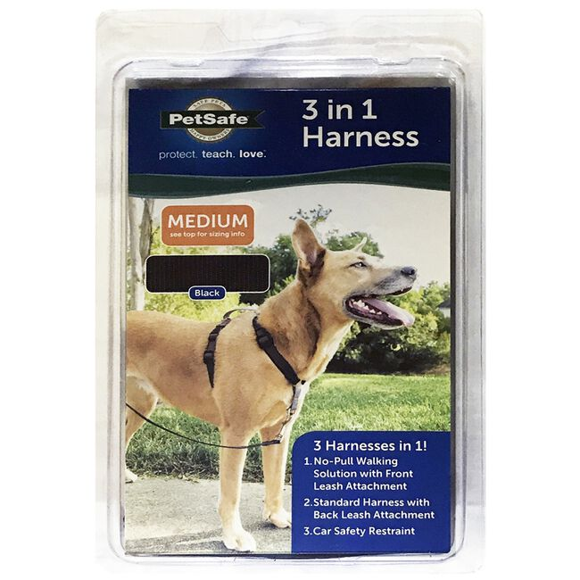 PetSafe 3 in 1 Dog Harness Black image number null