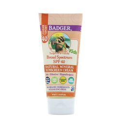 Badger Kids Clear Sunscreen Cream SPF 40