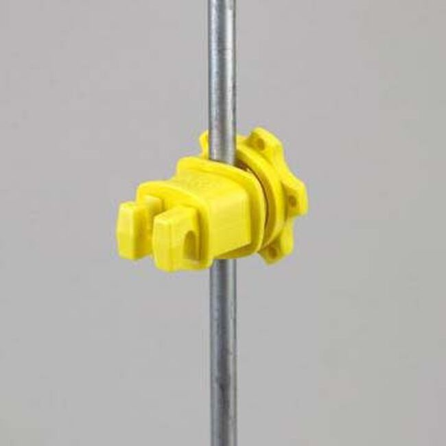 Dare Western Screw-Tight Round Post Insulator - Yellow image number null