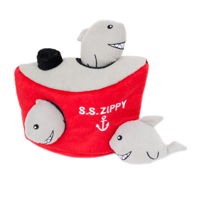 ZippyPaws Shark 'n Ship Zippy Burrow image number null