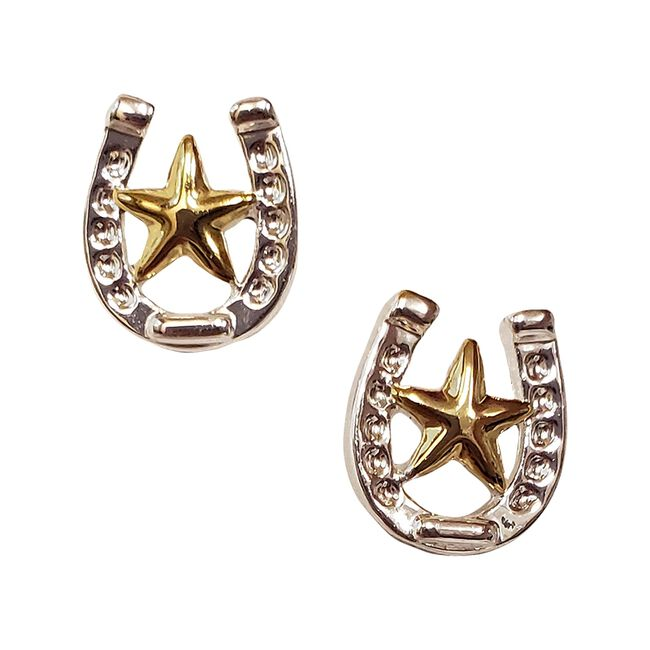 Montana Silversmiths Small Stars & Horseshoe Post Earrings image number null