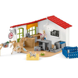 Schleich Veterinarian Practice with Pets Playset