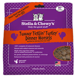 Stella & Chewy's Tummy Tickling Turkey Dinner Morsels Freeze Dried Cat Food