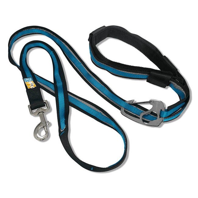 Kurgo Quantum 6-in-1 Dog Leash - Reflective Red/Blue image number null